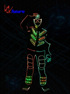 Tron dance costumes,wireless dmx controlled led lights for costumes WL-0149