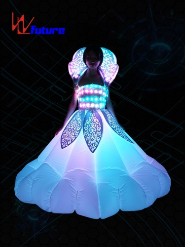 Custom Inflatable LED Dance Costumes,Rave Light Up Dress WL-0179
