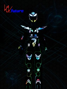 Future LED Stilts Walker Cyborg Robot Warrior Costume WL-0183