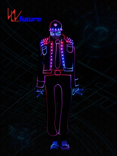 Light balance tron dance costume,wireless control LED light up clothing WL-0194