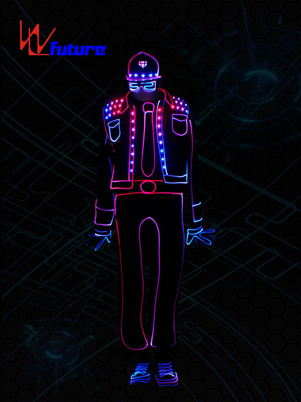 LED Tron dance costume,Wireless control LED light up costume WL-0194 Featured Image