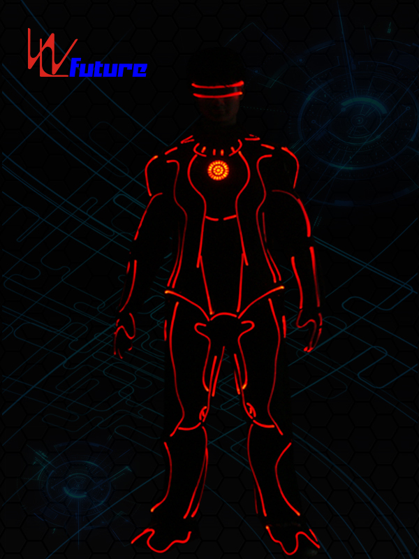 Glowing Tron Dance Robot Costumes,Neon Suit Clothing WL-0255 Featured Image