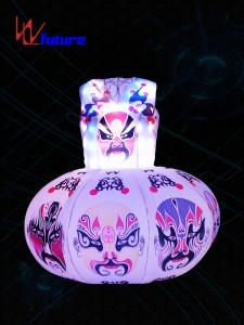 Dancewear Face graph Inflatable LED lantern Dress WL-0192