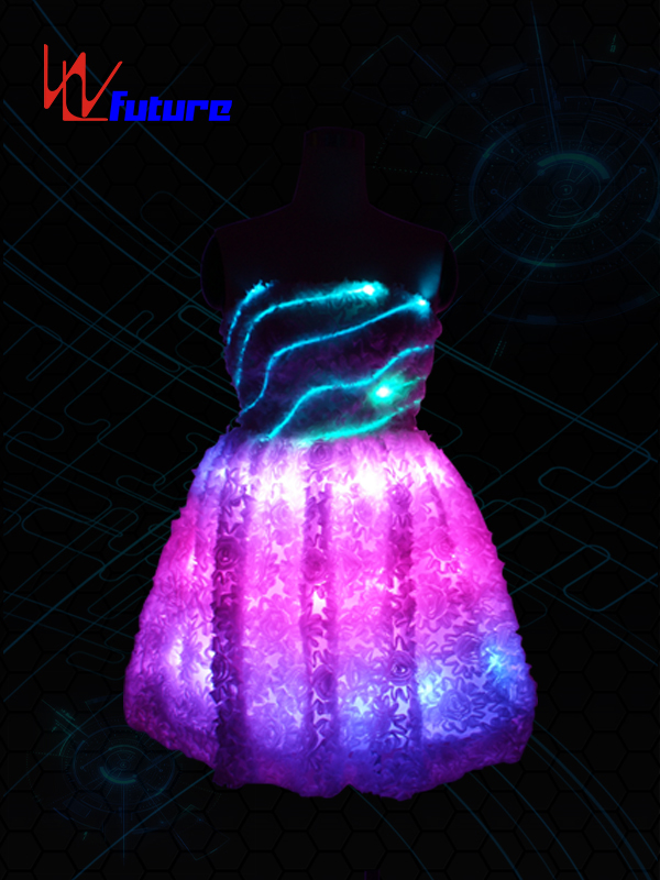Neon light Evening Dress Costume LED Clothing For Party WL-07 Featured Image