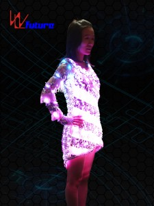 Sexy LED T-shirt,Light up Skirt WL-089