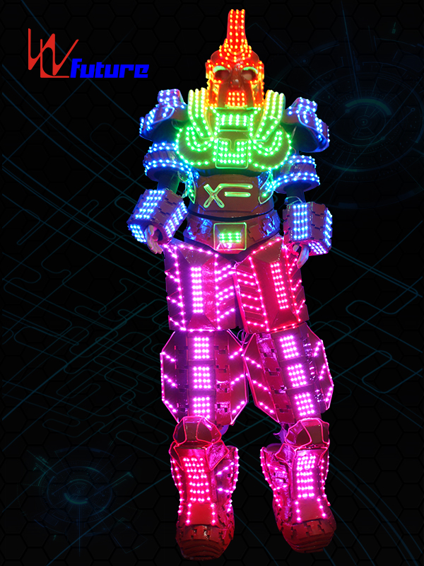 Future High Quality Giant 3D Stilts LED Robot Costumes WL-0138 Featured Image