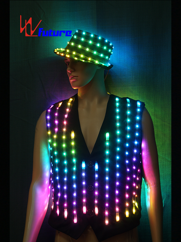 Custom LED Pixel Suit Costume with Hat For Stage Performance WL-0145 Featured Image