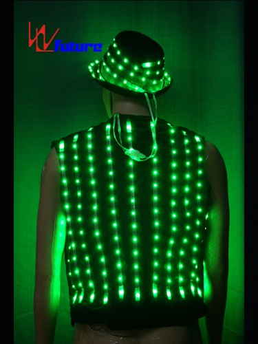 Custom LED Pixel Suit Costume with Hat For Stage Performance WL-0145