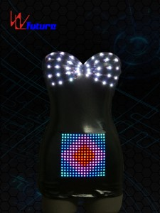 Sexy LED leather Costume for performance wear WL-020