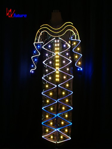 Custom LED Light Up Costume Fiber Optic Jumpsuits For Men WL-0172