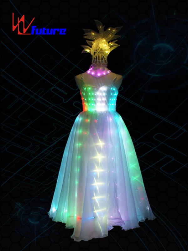 Elegant LED Full Color Evening Dress,Glowing Costumes For Women WL-0198 Featured Image