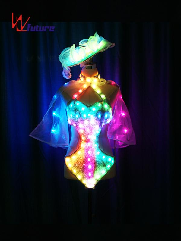 Custom Sexy LED Light Bikini Dance Costumes for Show WL-0213 Featured Image