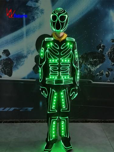 433 Wireless controlled LED & fiber optic tron dance suit costume WL-0263