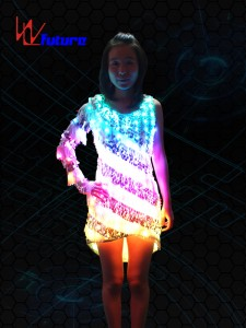 Hot Sale Flashing Light Up Led Dance Costume For Christmas Rave