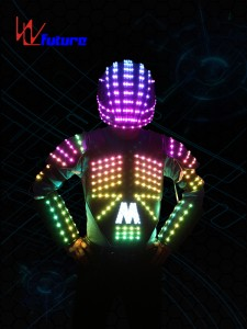 Color-changing LED Vest with Helmet WL-0102