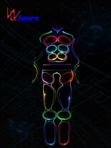 Full Color Optic Fiber Light Costumes WL-081