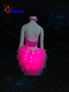 Hot sexy Fiber optic Bra with Skirt WL-048