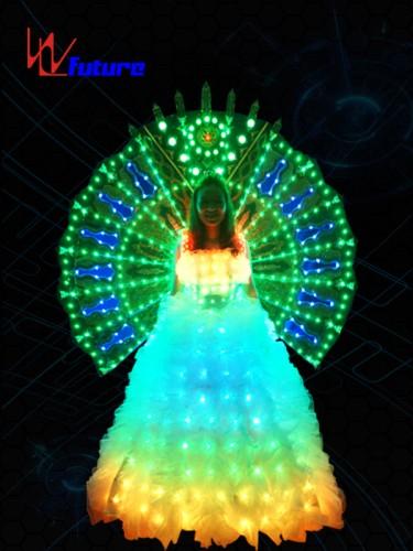 White LED Wedding Dress In Performance Wear WL-018