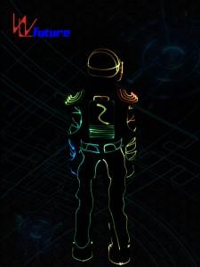 Color changed Fiber Optic Jumpsuit with Helmet WL-0103