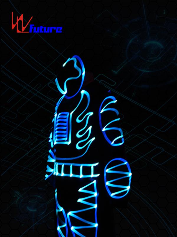 Factory For Tron Costume Men - Full Color Optic Fiber Light Costumes WL-092 – Future Creative