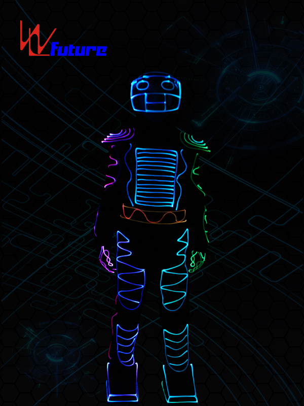 Best Price for Dmx512 Costumes Controller - Color changed Fiber Optic Jumpsuit with Helmet WL-0103 – Future Creative