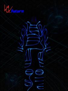 Color changed Optic Fiber Light Costumes WL-088