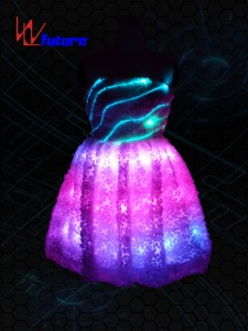 Neon light Evening Dress LED Clothing WL-07