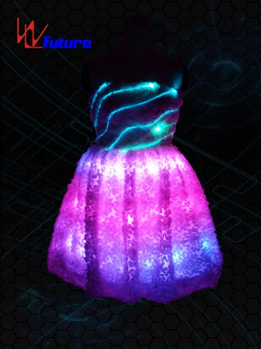 China New Product Luminous Led Dress Glowing Flashing Light Led Short Tutu Mini Skirt