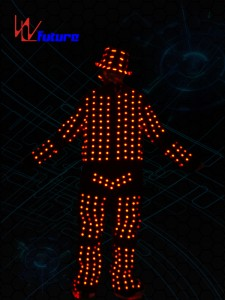 Dance stage wear LED costumes with helmet,glasses,shoes WL-0106