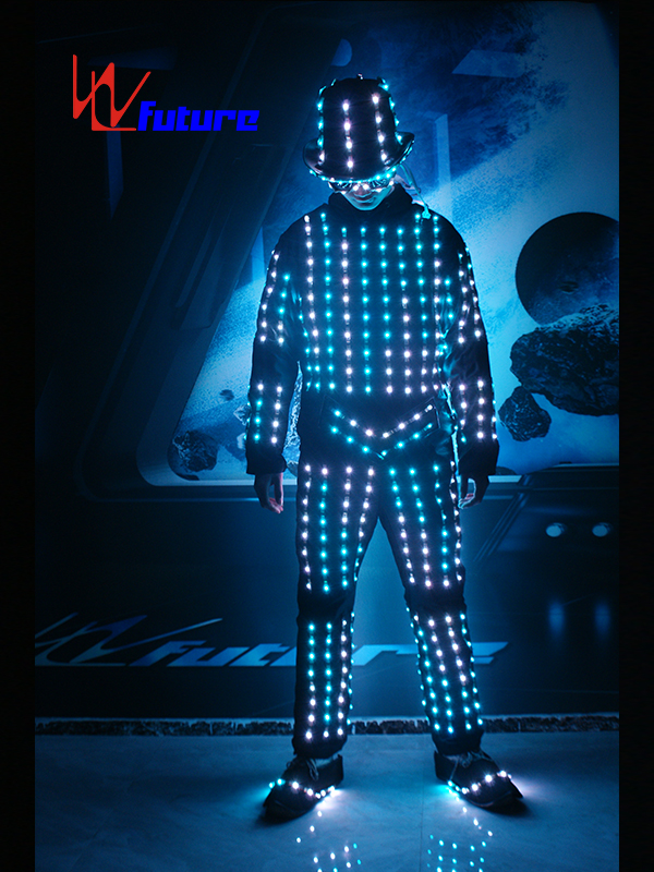 Dance stage wear LED costumes with helmet,glasses,shoes WL-0106 Featured Image