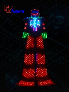 Disco Stilts Walker Led Robot Outfit for Men WL-0109