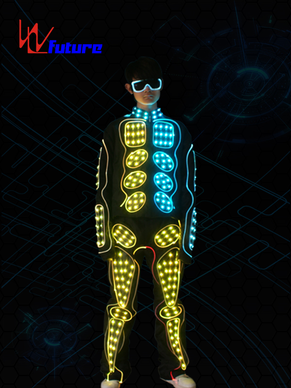 433 Wireless Controlled LED Robot Cosutme With Glasses WL-0163 Featured Image