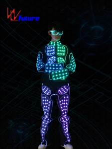433 Wireless Controlled LED Robot Cosutme With Glasses WL-0163