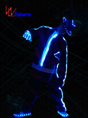 Programmable LED MJ Dance Costume with Hat,Gloves WL-017