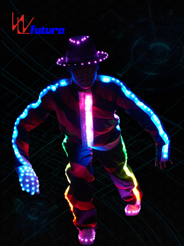 Programmable LED MJ Dance Costume with Hat,Gloves WL-017 Featured Image