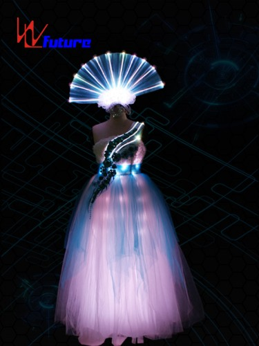 Rainbow LED & Fiber Optic Prom Dress Costumes for performing WL-0174