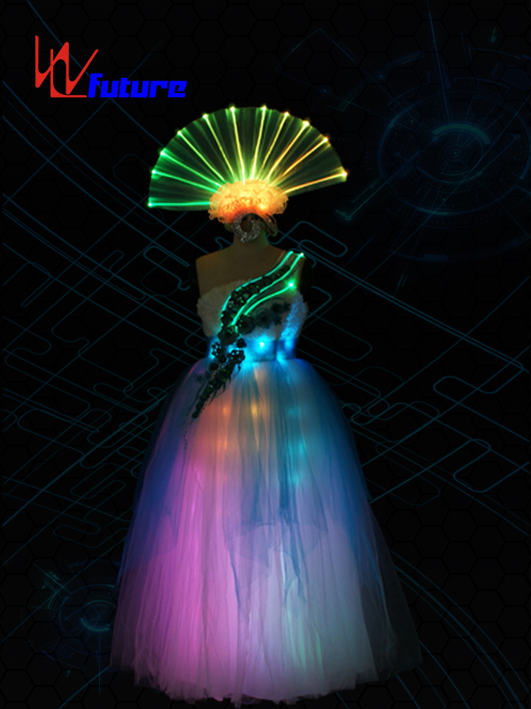 Rainbow LED & Fiber Optic Prom Dress Costumes for performing WL-0174 Featured Image