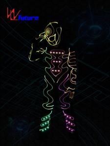 LED & Fiber Optic Tron Dance Costumes With Mask WL-0178