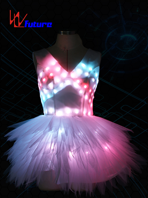 High Quality Led Luminous Wings Costume Glowing Women Lady Butterfly Wings Led Illuminated Dress Pas De Blue Featured Image