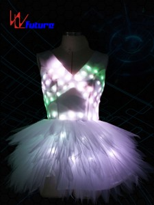 High Quality Led Luminous Wings Costume Glowing Women Lady Butterfly Wings Led Illuminated Dress Pas De Blue