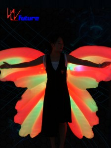 Good Quality Inflatble Costume Led Butterfly Angle Wing,Led Isis Wings For Bellydance