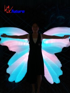 Rainbow LED Inflatable butterfly wings of dance props WL-0185