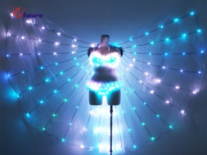 Sexy LED light up bra with LED Wings for Dance Performance WL-0186