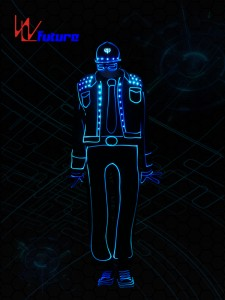 LED Tron dance costume,Wireless control LED light up costume WL-0194