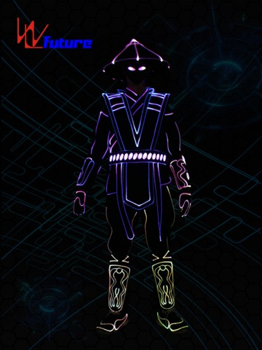 Wireless Controlled Light Up Raiden Costumes Led Tron Dance Suit WL-0233
