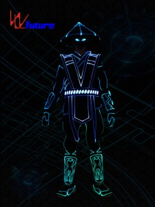Tron dance costumes,wireless controller led clothing WL-0233