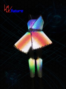 Future Smart LED Pixel Costume for performance WL-0225