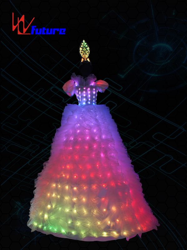 LED Stilts Dress Costume For Women,LED Circus Clothing WL-022A Featured Image
