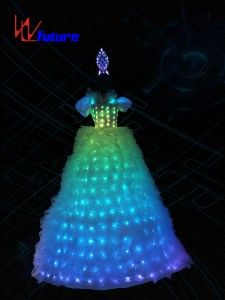LED Stilts Dress Costume For Women,LED Circus Clothing WL-022A