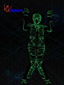 Fiber Optic Tron Dance Costumes,Glow In The Dark Clothing WL-0234